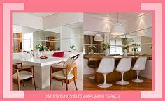3 dicas para decorar espaços pequenos e ter mais amplitude: http://followthecolours.com.br/follow-decora/3-dicas-para-decorar-espacos-pequenos-e-ter-mais-amplitude/