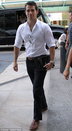 Henry Cavill.  This is my vision of Christian Grey and probably the most sexiest man in the world.