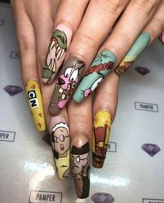 Unordinary All Season Nail Art Ideas To Try Everytime - Designer nails can really make you look fashionable and chic. Nail art is one way to make your nails look really good and it lets you experiment with . Halloween Nail Designs, Halloween Nails, Fall Halloween, Halloween Ideas, Gorgeous Nails, Pretty Nails, Amazing Nails, Dog Nails, Dog Nail Art