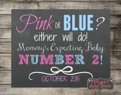 pregnancy announcement number two – Etsy