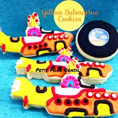 Beatles Yellow Submarine Decorated Cookies.