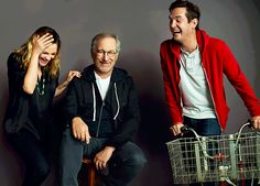EW's 2012 Cast Reunion - E.T. (1982) - Drew Barrymore, Steven Spielberg, and Henry Thomas.