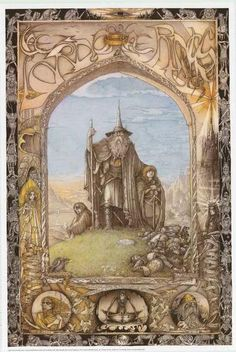 A fantastic poster of art inspired by JRR Tolkein's Lord of the Rings! Illustration by Jimmy Cauty. Fully licensed - 1988. Ships fast. 24x36 inches. Check out the rest of our awesome selection of Lord