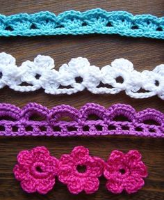 Crochet Edgings and Trims by Susan Smith    Crochet stitch Motifs by Erika Knight    Beyond the Square Crochet Motifs by Edie Eckman