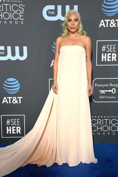 d301204a6c41 Lady Gaga In Calvin Klein by Appointment - 2019 Critics  Choice Awards. Red  Carpet ...