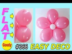 VERY EASY Flower Decoration  |  簡単に飾れる!【かねさんのバルーンアート】 Balloon Flowers, Diy Flowers, Flower Decorations, Easy Diy, Balloons, Goodies, Youtube, Sweet Like Candy, Treats
