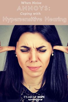 """When Noise Annoys: Coping with Hypersensitive Hearing"" Stephanie Stephens ""Do sounds that do not bother anyone else make you want to tear your hair out? Hearing hypersensitivity is a fairly common mood symptom with bipolar. Bipolar Symptoms, Depression Symptoms, Psychotic Depression, Noise Sensitivity, Misophonia, Anxiety Thoughts, How To Cure Depression, Health Anxiety, Mental Health"