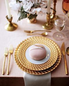Via Martha Stewart Weddings, gold and sweets