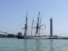 """Tall ships visit Put-in-Bay for the Battle of Lake Erie Bicentennial  1813-2013. """"Windy"""" & """"Niagara""""."""