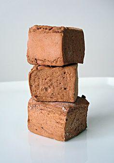 "Chocolate marshmellows using homemade ""marshmellow syrup"" (requires Cream of Tartar)"
