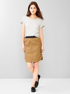 Pull-on shirttail skirt Product Image