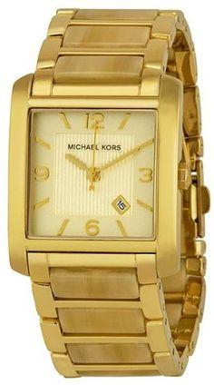 Amazon.com  Michael Kors Champagne Dial Horn Acrylic Ladies Watch MK4251  Michael  Kors  Watches 06d5db8edd