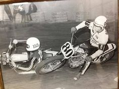 Kenny dumps a racer to pass on his smaller Yamaha. 350cc I think.