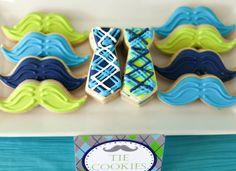 Mustache and Tie Cookies