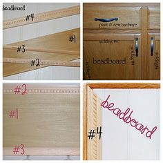 adding beadboard to existing cabinets