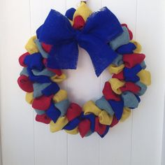Hey, I found this really awesome Etsy listing at https://www.etsy.com/listing/180045913/autism-awareness-inspired-burlap-wreath