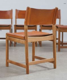 Kurt Østervig; Oak and Leather Side Chair, c1960.