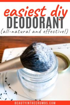 DIY Deodorant (that actually works) Homemade deodorant that is all natural requires no prep work or melting oils/butter and actually works. Its nontoxic uses only ingredients and is gentle on sensitive skin. Diy Deodorant, Homemade Natural Deodorant, Deodorant Recipes, Homemade Skin Care, Homemade Beauty Products, Diy Skin Care, Tea Tree Oil Deodorant, Best All Natural Deodorant, Baking Soda Deodorant