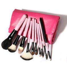 Premium Professional 10 Pcs Beauty Makeup Brush Set Kit With Case for big sale!