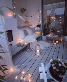 60 chic balcony decor ideas for every home - Balkon Ideen - Balcony Furniture Design Winter Balkon, Small Balcony Decor, Balcony Ideas, Balcony Decoration, Small Balcony Furniture, Balkon Design, Outdoor Living, Outdoor Decor, Aesthetic Rooms
