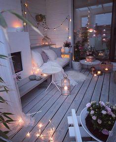 60 chic balcony decor ideas for every home - Balkon Ideen - Balcony Furniture Design Outdoor Spaces, Outdoor Living, Outdoor Decor, Winter Balkon, Small Balcony Decor, Balcony Ideas, Balcony Garden, Balcony Decoration, Small Balcony Furniture