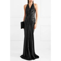Rick Owens Gathered lamé gown (5,130 SAR) via Polyvore featuring dresses, gowns, white evening dresses, party dresses, evening party gowns, holiday party dresses and white party dresses