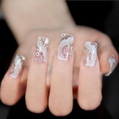 Binmer(TM)DIY Lace Diamond Flower Nail Art Stickers Decoration Bling Decal Manicure Nails Sticker Beauty Makeup Tool >>> This is an Amazon Affiliate link. Visit the image link more details.