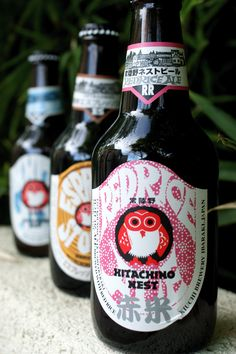 Hitachino. - Japanese beer, but I'm pinning for the owl label