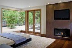 Image result for master bedroom fireplace modern