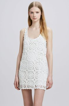 Crochet esquema de crochet vestido Joie