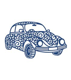 Tattered Lace Metal Die-Retro Car