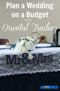 Plan a Wedding on a Budget with Oriental Trading