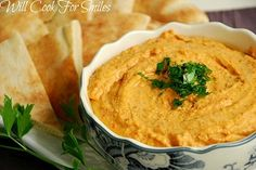 Roasted Garlic & Dill Hummus - Will Cook For Smiles