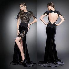 New Attractive Custom Prom Gown Jewel Full Length Formal Mermaid Evening  Dresses Mermaid Evening Dresses 43aec7bd4aba