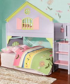 Loving this Play House Loft Bed for a kids bedroom on #zulily! #zulilyfinds