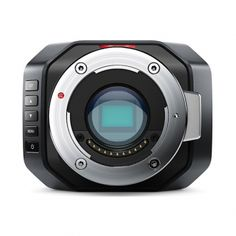 The Blackmagic Micro Studio Camera 4K is the world's smallest HD and Ultra HD live studio camera that is compatible with active MFT phoot lenses or can be adapted to accept B4 and PL mount lenses. The Micro Studio includes PTZ control, 6G-SDI, built-in color corrector, talkback, tally, and more. The camera supports 3840 x 2160p video up to 30fps and 1080p video up to 60fps. The camera outputs 10-bit 4:2: video via 6G-SDI and can be remotely controlled from an ATEM switcher using SDI control…