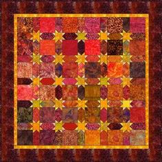 "Sashing Stars - 5"" Charm Quilt Pattern"