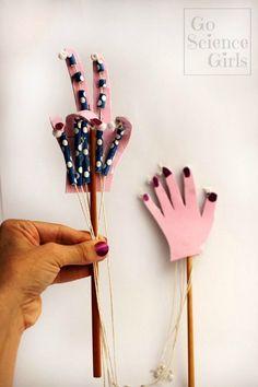 Articulated hand puppet