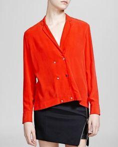 The Kooples Shirt - Silk Crepe de Chine | Bloomingdale's