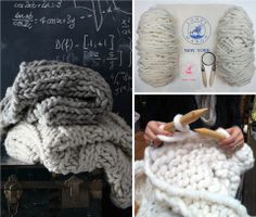 Nantucket Throw Knit Kit, 36'' x 70'' | by Loopy Mango....holy cow, I'm in DIY love!!