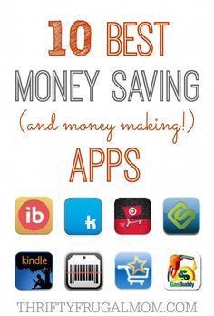 These money saving apps are the best and will save you BIG!  Some months I save enough with them to cover the cost of our cell phone bill!