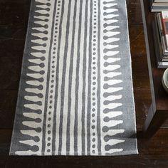 black stripe dhurrie runner rug | Rajasthan-Stripe Printed Dhurrie | west elm (Why didn't I buy this ...