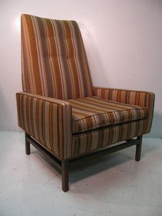 Mid Century Lounge Armchair Style Of Jens Risom | From a unique collection of antique and modern lounge chairs at https://www.1stdibs.com/furniture/seating/lounge-chairs/