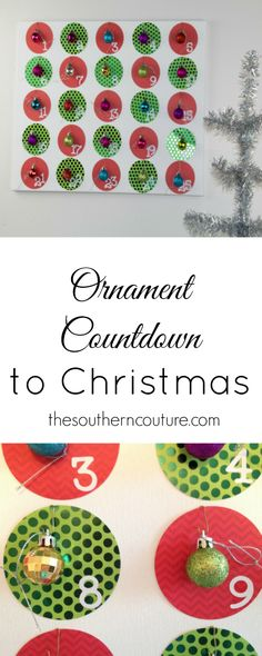 Get your kids invovled this year wtih counting down to Christmas with this fun ornament countdown. Once they remove the ornament, they can hang it on the tree and watch it fill up. Get the full tutorial at thesoutherncouture.com.