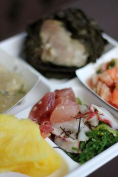 Poke and Tako | Traditional Hawaiian Food Hawaiian Spam Recipes, Asian Recipes, Ethnic Recipes, Tasty Dishes, Food Dishes, Traditional Hawaiian Food, Japanese Sashimi, Around The World Food, Good Food