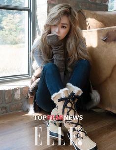 Girls' Generation's Tiffany was featured in the November issue of fashion magazine Elle Korea, collaborating with SOREL, a popular line of winter boots.
