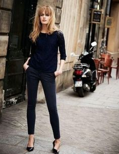 Black on Black - Chic French Girl Outfits On Pinterest - Photos