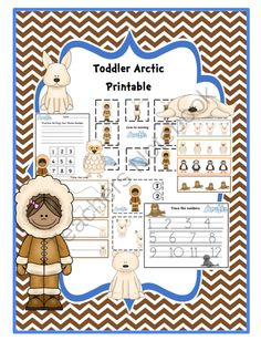 Toddler Arctic Printable from Preschool Printables on TeachersNotebook.com -  (29 pages)  - Toddler Arctic Printable