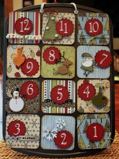 Advent Calendar, might be able to pull this off, have lots of left over Xmas paper