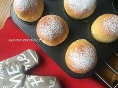 Koblihy pečené jako muffiny - Víkendové pečení Small Desserts, Sweet Desserts, Breakfast Recipes, Dessert Recipes, Czech Recipes, Cheat Meal, Home Baking, Food Hacks, Sweet Tooth